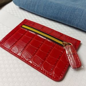 🌼3/$30 B-low the Belt NWT Red Croc Card Holder